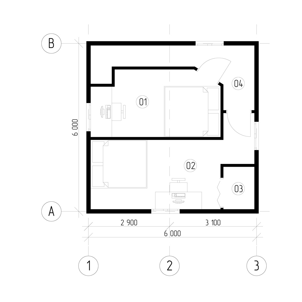 План 1 поверху