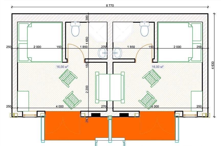 Готель Hobbit 002 план