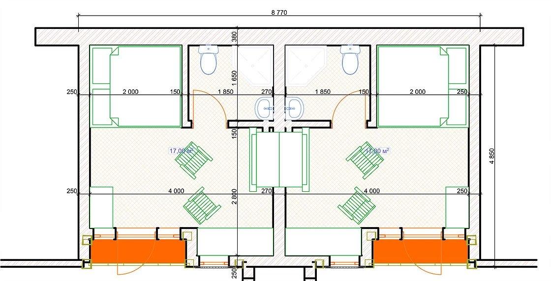 Готель Hobbit-003 план