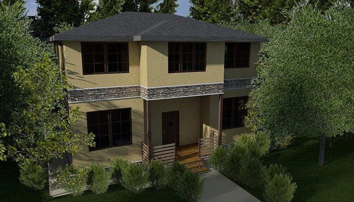 каркасний котедж villa classic-01