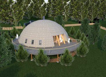 унікальний каркасний купольний будонок