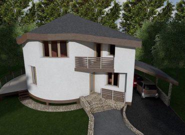 каркасний будинок равлик