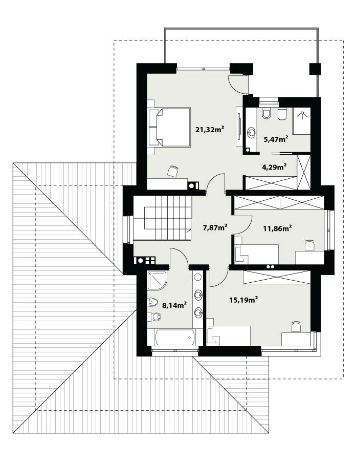 Каркасний котедж Карат 2 194 кв м план 2