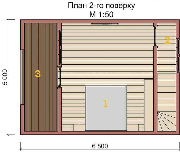 Котедж Smart-3 54кв м план 2-го поверху