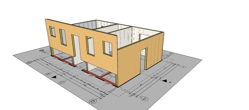 швидкомонтовані будинки план