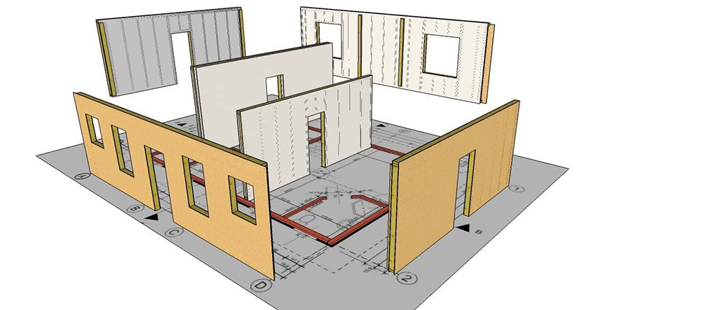 швидкомонтовані будинки схема