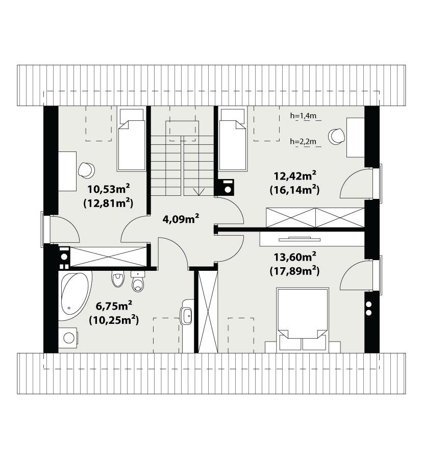 Каркасний будинок Немо 109,29 кв м план 2 поверху