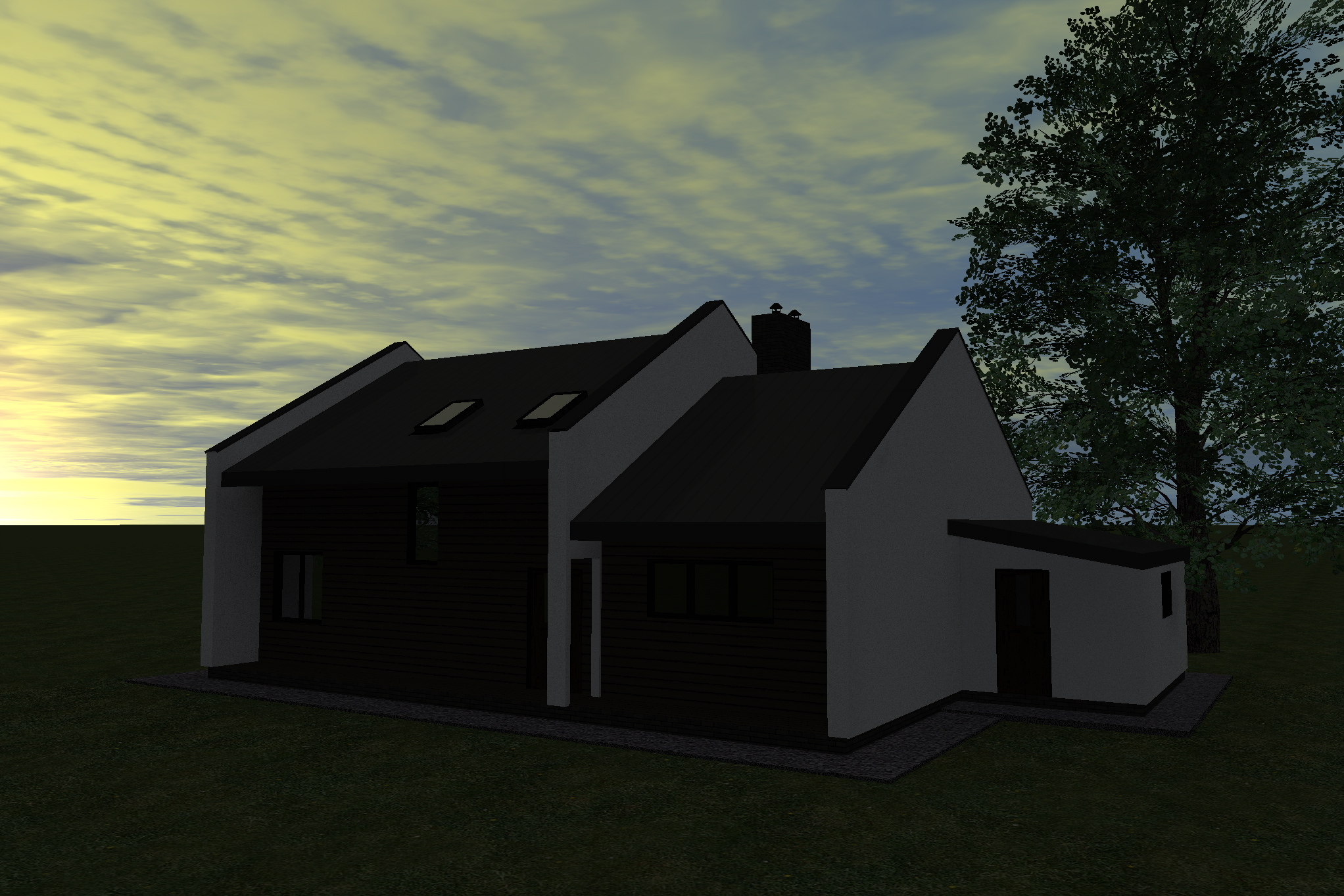 Каркасний будинок omnispace 97 вигляд спереду